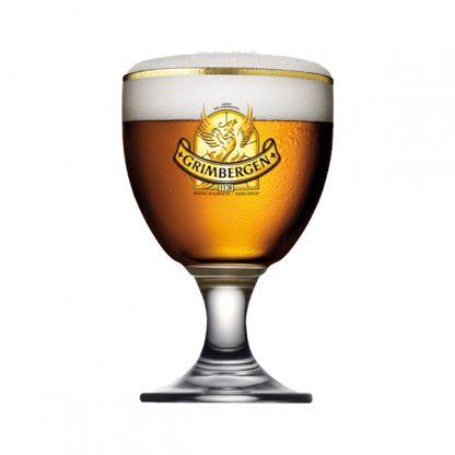 Grimbergen cerveza vaso