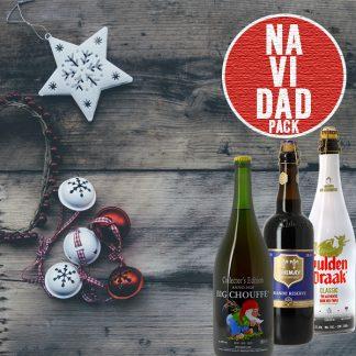 Pack de cervezas navideñas