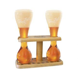 kwak vaso con soporte de madera